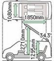 Approximate dimensions of Mazda Bongo
