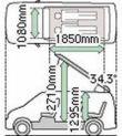 Approximate dimensions of Mazda Bongo
