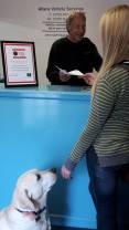 Dog friendly garage in Plymouth